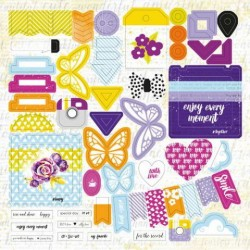 Высечки Lemon Owl - Plans for Today, Die Cuts №02, 30х30 см