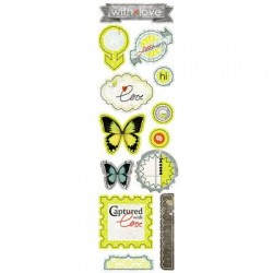 Высечки Lemon Owl - Attic Door, Die Cuts №02, 10х30 см