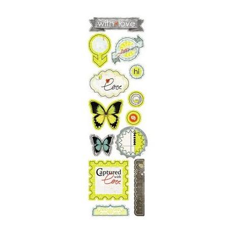 Высечки Lemon Owl - Attic Door, Die Cuts №02, 10х30 см