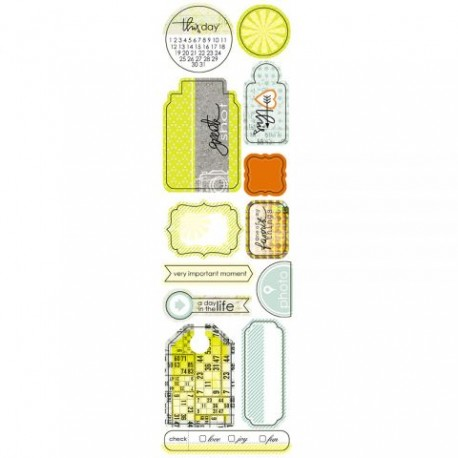 Высечки Lemon Owl - Attic Door, Die Cuts №03, 10х30 см