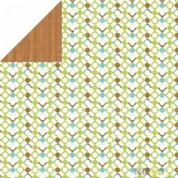 Лист двухсторонней бумаги Weekend Trip, Kaleidoscope, 30х30 см, от Lemon Owl, плотность 200 гр/м2
