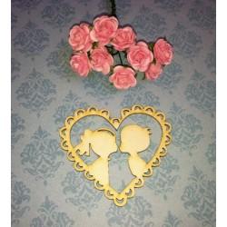 Чипборд Сердце Размер 5*5,6см, картон 1 мм