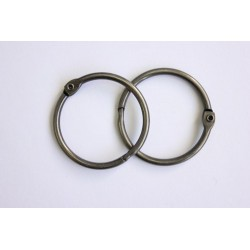 Кольца для альбомов, 2 шт серебро 50 мм