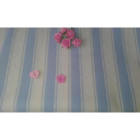 Лен Полоски голубые, Испания, 30*70см