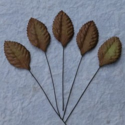 Листики 10 шт. 35мм Brown Mulberry Paper Leaves