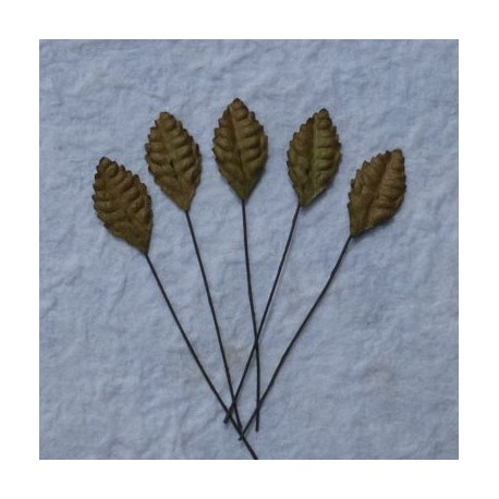 Листики 10 шт. 25мм Brown Mulberry Paper Leaves