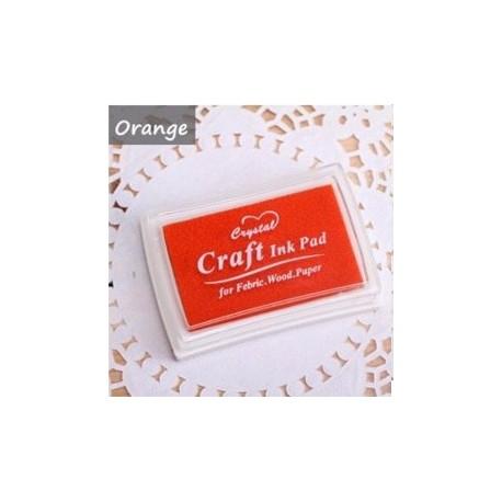 Штемпельная подушка Оранжевая, 7.5*5.2 см