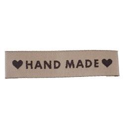 Нашивка HAND MADE, 6 см, 5 шт.