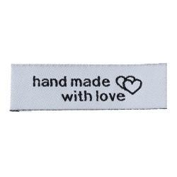 Нашивка HAND MADE, 5 см, 5 шт.