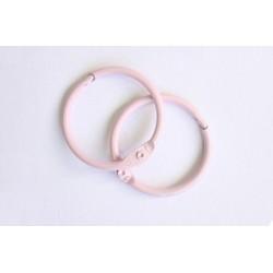 Кольца для альбомов, 2 шт розовые 50 мм