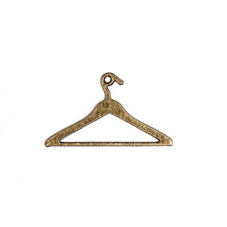 Подвеска Вешалка для одежды, бронза, 24*42мм, ScrapBerry's