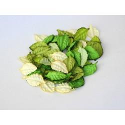 Листья Зеленый микс 4,5х2,5 см, 10 шт.