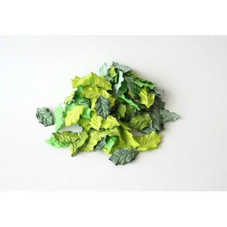 Листья остролиста Зеленый микс 4х2,5 см, 10 шт