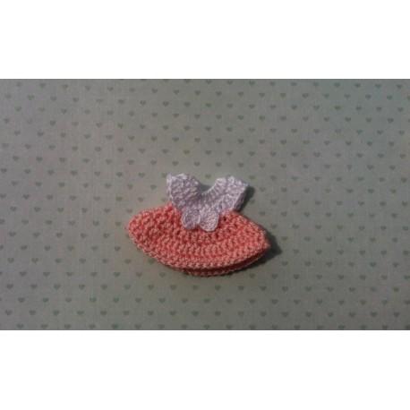 Платье Розовое 4*5 см, двухстороннее