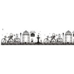 Бумажный скотч с принтом СТАРИННЫЙ ПАРК 30мм*8м, ScrapBerrys