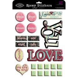 Epoxy Stickers Prima Love You 21,6*28см