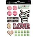 Epoxy Stickers Prima Love You 21,6*28см