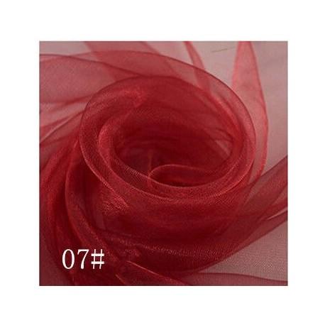Фатин 50*50см мягкий красный