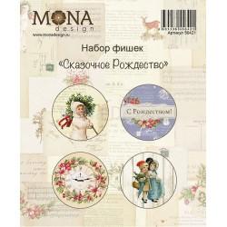 Набор фишек для скрапбукинга Сказочное Рождество MoNa Design