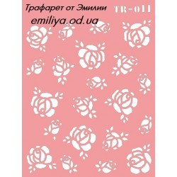 Трафарет Розы 10*15см