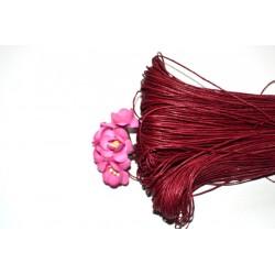 Вощенный шнур Красный 1мм, 5 м.
