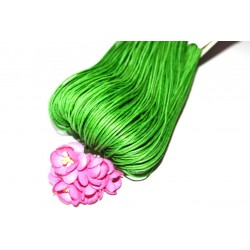 Вощенный шнур Зеленый 1мм, 5 м.