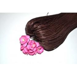 Вощенный шнур Темно-коричневый 1мм, 5 м.