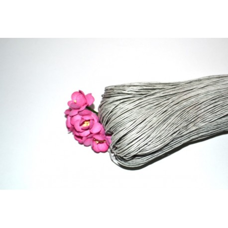 Вощенный шнур Серый 1мм, 5 м.