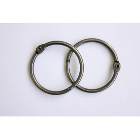 Кольца для альбомов, 2 шт серебро 40 мм