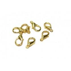 Карабин 1*0,5см, золото