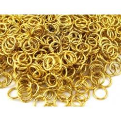 Соединительные кольца 5мм, золото, 10 шт
