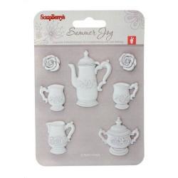 Набор полимерных фигурок Сладости Чайный сервиз