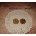 Пуговицы, 30 мм, кокосовая кора