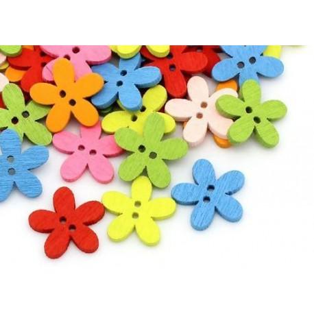 Пуговицы Цветы Микс 14.0мм x 15.0мм, 5 шт