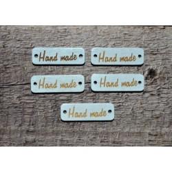 Бирки деревянные Hand Made, 30х10 мм, 5 шт