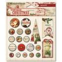 Набор брадсов 20 шт и теги 3 шт My Mind's Eye Vintage Christmas