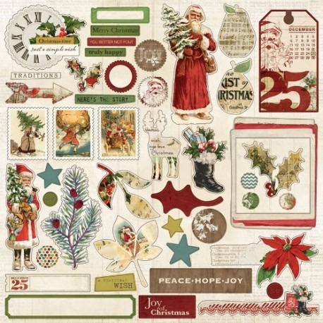 Стикеры 30*30 см My Mind's Eye Vintage Christmas