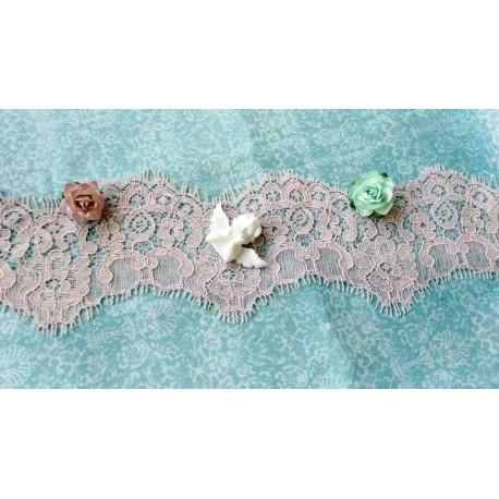 Кружево Реснички Нежно-розовое ширина 8 см