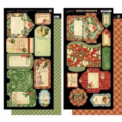 Стикеры Tags & Pockets 12 Days of Christmas 15*30 см, 2 шт