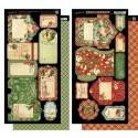 Стикеры Tags & Pockets 12 Days of Christmas 15*30 см, 2 шт