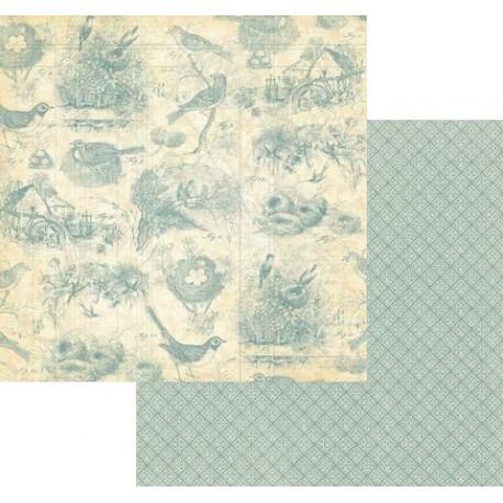 Бумага для скрапбукинга 30*30 см 170 гр/м Birds of a Feather