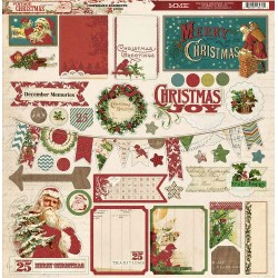 Стикеры из чипборда 30*30 см My Mind's Eye Vintage Christmas