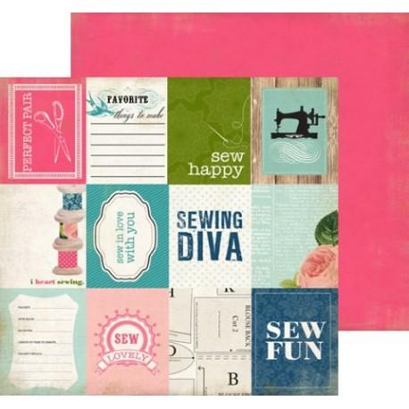 Бумага 30*30 см Sew Fun