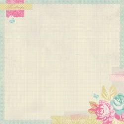 Бумага для скрапбукинга 30*30 см 220 гр/м Flower