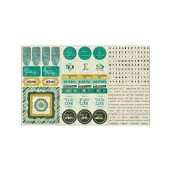 Стикеры 20*30 Authentique Elements Natural
