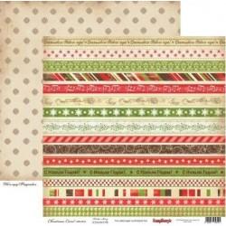 Бумага для скрапбукинга 30,5х30,5 см 180 гр/м двусторон. «Ночь перед Рождеством» Рождественская Сказка, ScrapBerry's