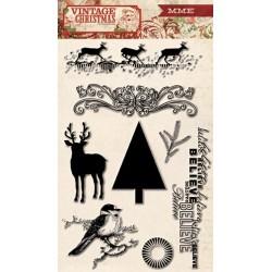 Прозрачные штампы 8 шт 10*15 см My Mind's Eye Vintage Christmas