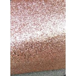 Кожзам Глиттерный Розовое золото 45*25 см