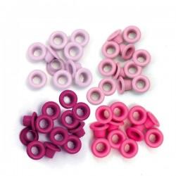Люверсы Standard Eyelets – Aluminum Pink, 60 шт