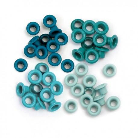 Люверсы Standard Eyelets – Aluminum Aqua, 60 шт